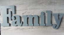 Family large wooden letters wall mountable painted wooden letters 20 cm & 10 cm
